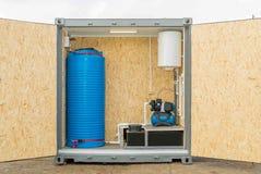 Foto van een autonoom systeem van watervoorziening stock afbeeldingen