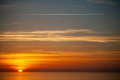 Foto van een dramatische zonsondergang Royalty-vrije Stock Foto