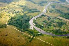 Foto van een hoogte van 600 meters Stock Foto's