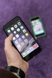 Foto van een iphone 6 plus Stock Foto's