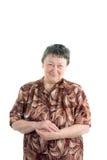 Foto van een oude vrouw die haar handen samen houdt Royalty-vrije Stock Foto's