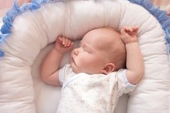 Foto van een pasgeboren babyclose-up royalty-vrije stock fotografie