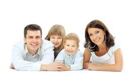 Foto van gelukkige familie Stock Afbeeldingen