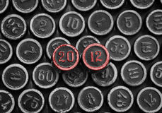 Foto van het aantal 2012 Royalty-vrije Stock Fotografie
