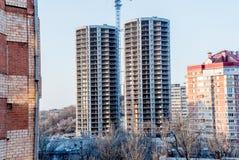 Foto van het gebouw in aanbouw stock foto