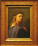Foto van het originele het schilderen ` Portret van Bindo Altoviti door Raffael stock fotografie