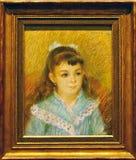 Foto van het originele het schilderen ` Portret van een jong meisje ` door August Renoir Royalty-vrije Stock Afbeelding