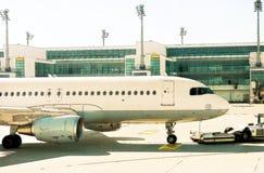 Foto van het vliegtuig Royalty-vrije Stock Afbeeldingen