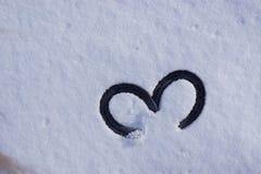 Foto van hoef 2 op sneeuw Stock Afbeelding
