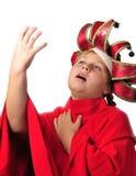Foto van jong jongen acteren Stock Fotografie