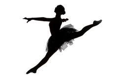 Foto van jonge ballerina in sprong Royalty-vrije Stock Afbeeldingen