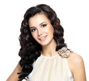 Foto van jonge vrouw met schoonheids lang haar. stock foto