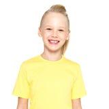 Foto van lachend mooi gelukkig meisje Stock Foto's