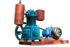 Foto van luchtcompressor met geïsoleerde achtergrond stock fotografie