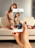 Foto van Mooie Vrouw Stock Foto