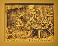 Foto van origineel: ` De Dunne Keuken ` door Pieter BRUEGEL Royalty-vrije Stock Afbeeldingen