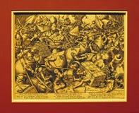 Foto van origineel: ` De Slag over Geld ` door Pieter BRUEGEL Stock Afbeelding