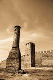 Foto van oud kasteel Stock Afbeeldingen
