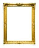 Foto van oude gouden omlijsting Royalty-vrije Stock Afbeeldingen