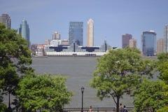 Foto van stadshorizon Stock Foto's