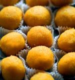 Foto van vegetarische snoepjes zonder suiker met droge vruchten royalty-vrije stock fotografie