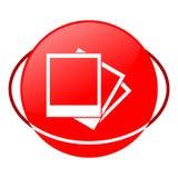Foto vectorillustratie, Rood pictogram vector illustratie