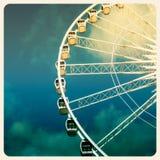 Foto velha da roda de Ferris imagem de stock