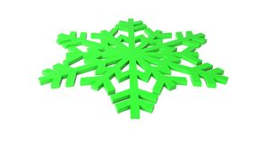 Foto verde della neve Fotografia Stock
