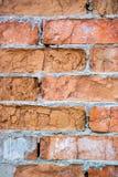 Foto vertical da textura velha da parede de tijolo para o fundo foto de stock royalty free