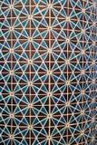 A foto vertical do mosaico geométrico azul e de cor castanha árabe do estilo do teste padrão telhou a parede Imagem de Stock