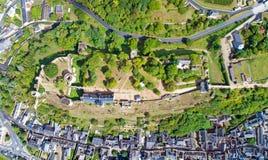 Foto verticale del castello di Chinon Fotografia Stock