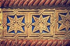 Foto vieja con el detalle de la fachada de una sinagoga Cuadrado 02, Timisoara, Rumania de la unión imagen de archivo