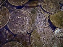 Foto vieja con las monedas viejas 4 Fotografía de archivo libre de regalías