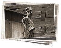 Foto vieja del vintage de la lámpara foto de archivo