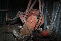 Foto vieja roja del motor imágenes de archivo libres de regalías