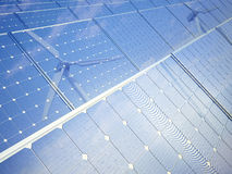 Foto-voltaische Panels Lizenzfreies Stockfoto