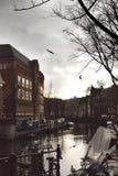 Foto von Amsterdam- und Amstel-Fluss Lizenzfreie Stockbilder