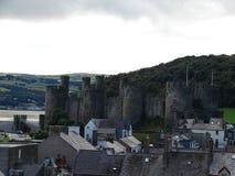 Conwy Schloss, Nordwales, Vereinigtes Königreich Lizenzfreies Stockbild