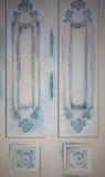 Foto von dekorativen Wänden mit verschiedenen Arten von Verzierungen in Form von dekorativen Rahmen und Sockelnachahmungsweinlese Lizenzfreies Stockbild
