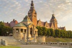 Foto von den Terrassen, die Haken Terrasein Szczecin ansehen Lizenzfreies Stockbild