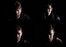 Foto von den vier Gesichtern des Mannes Lizenzfreie Stockbilder