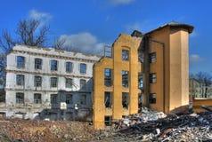 Foto von der Demolierungstextilfabrik Lizenzfreie Stockfotos