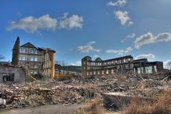 Foto von der Demolierungstextilfabrik Lizenzfreies Stockfoto