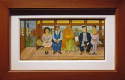 Foto von der ursprünglichem Malerei 'Busse durch Frida Kahlo lizenzfreie stockbilder