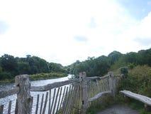 Foto von einem Waliser-Fluss Großbritannien Lizenzfreie Stockfotos