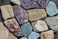 Foto von farbigen Steinen stockfoto