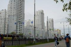 Foto von Fragmenten von Neubauten auf der Stra?e Tatishchev lizenzfreie stockfotos