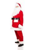 Foto von glücklicher Santa Claus in den Brillen stockbilder