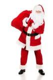 Foto von glücklicher Santa Claus in den Brillen stockfotografie