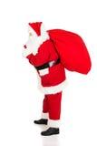 Foto von glücklicher Santa Claus in den Brillen stockfoto